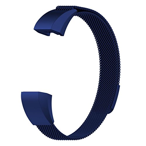 for Fitbit ACE Watch Band, Fullfun Stainless Steel Smart Watchband - Milanese Magnetic Loop Straps - (6.5-9.9inches) (B) by Fullfun (Image #1)