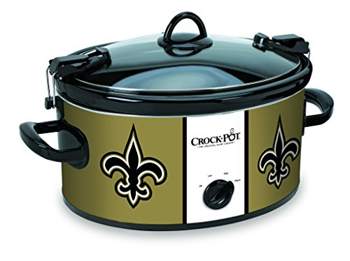 Crockpot SCCPNFL600-NO Crock-Pot New Orleans Saints Cook & Carry Slow Cooker, Old Gold