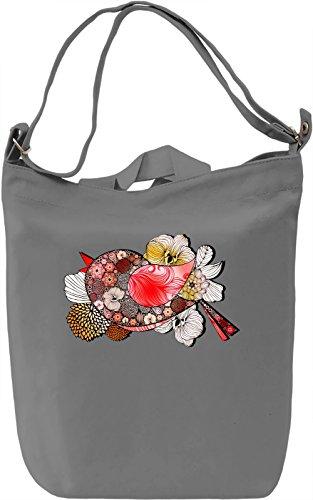 Graphic Red Bird Borsa Giornaliera Canvas Canvas Day Bag| 100% Premium Cotton Canvas| DTG Printing|