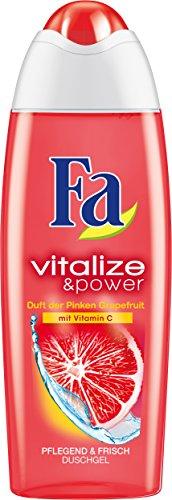 Fa Duschgel Vitalize & Power Duft der Pinken Grapefruit mit Vitamin C, 6er Pack (6 x 250 ml)