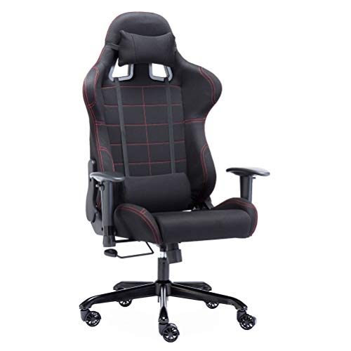 Gaming Chair Ergonomic High Mesh Racing Style with Adjustable Armrest and Back Recliner Swivel Rocker Office Chair (Black) Five Stars Furniture