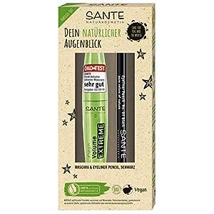 Sante Coffret cadeau cosmétique naturel Fresh Volume Extreme Mascara 10 ml & crayon eyeliner Pencil (1,1 g)