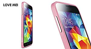 YOUNGFLY One Piece LOVE MEI 0.7mm Aluminium Metal Bumper Frame Case for Samsung Galaxy S5 SV i9600 Pink