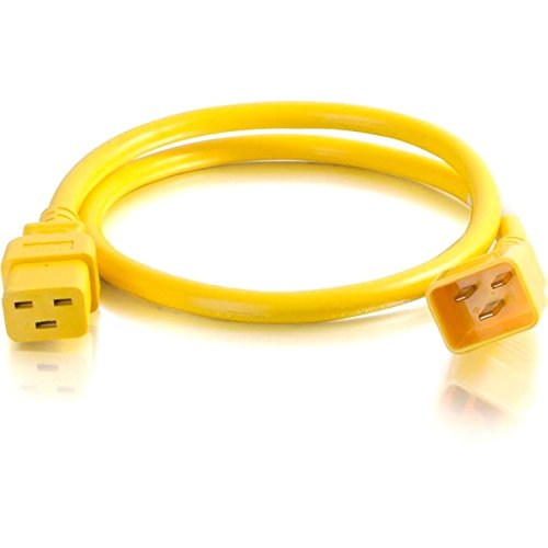 C2G 10ft 12AWG IEC320C20 to IEC320C19 Power Extension Cable [Yellow]