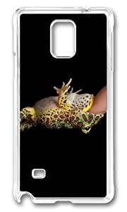 MOKSHOP Adorable Frog Bite Finger Hard Case Protective Shell Cell Phone Cover For Samsung Galaxy Note 4 - PC Transparent