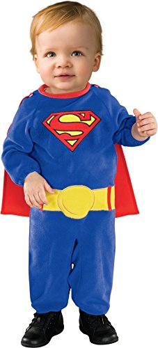 Superman Newborn Costumes (Superman Romper With Removable Cape Superman, Superman Print, Newborn)