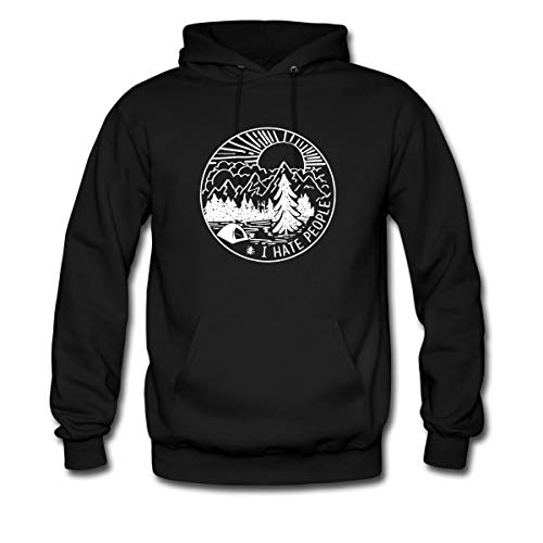 Spreadshirt Camping I Hate People Men's Hoodie, M, - People Hoodie I Hate