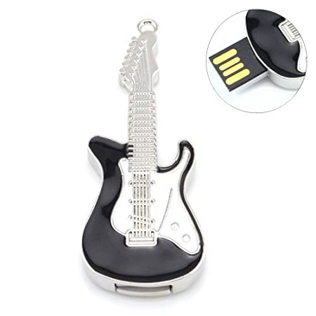Quace Electric Guitar Black 8  GB USB Pen Drive