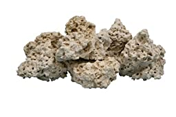 Nature\'s Ocean 12-Inch Coral Base Rocks for Aquarium, 40-Pound