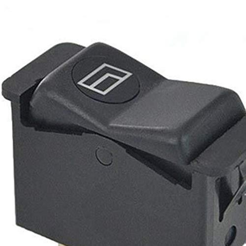 Para Mercedes-Benz W123 W126 W201 Uro Interruptores de la ventana el/éctrica en los paneles de la puerta trasera Interruptores de la ventana del coche Negro