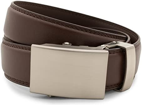Anson Belt & Buckle - 남성용 클래식 실버 버클 래칫 벨트 / Anson Belt & Buckle - 남성용 클래식 실버 버클 래칫 벨트