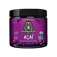 Sambazon Organic Freeze-Dried Acai Powder, 3.17 Ounce