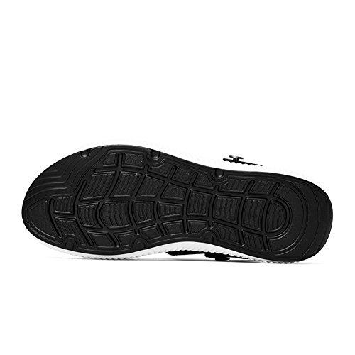Uomo Pescatore Pelle Estivi white Shoes Spiaggia Escursionismo Acqua Scarpe Sandali da Piscina Trekking Mare HN Sportivi All'aperto fxPXITqPw
