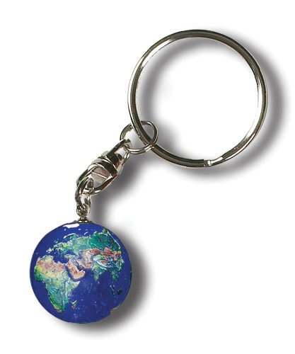 Keytag Blue Earth Marble, Full Color Natural Earth Continent