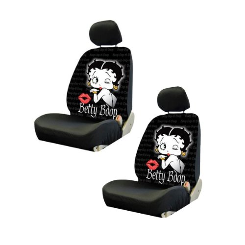 Two Universal Fit Lowback Seat Covers - Betty Boop Timeless