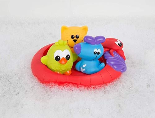 """Playgro Giochi per bagnetto """"Amici del nuoto"""", Senza aperture, Impermeabile e anti-sporco, 4 pezzi, Per il bagnetto, A partire da 6 mesi, Senza Bisfenolo A, Multicolore, 40213 2"""