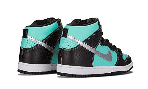 Nike Dunk High Prm Aqua / Chrome-zwart Maat 11.5