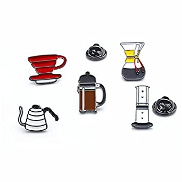 Amazon com: Custom coffee series badges (hand punch pot