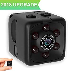 Mini Spy Hidden Camera, 1080P HD Wireless Cam for Home Security Surveillance Camera, with Motion Detection, Night Vision and Loop Recording, Used in Indoor or Ourdoor Aerial, Car, pet and Sport