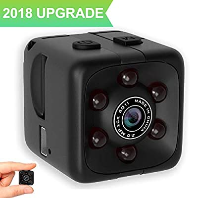 Mini Spy Hidden Camera, 1080P HD Wireless Cam for Home Security Surveillance Camera, with Motion Detection, Night Vision and Loop Recording, Used in Indoor or Ourdoor Aerial, Car, pet and Sport by Highdas