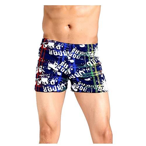 Zainafacai Swim Boxer,Men Swim Shorts Swimwear Swim Trunks with Zipper - Hibiscus Trunk