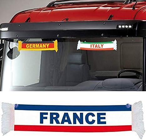 TRUCK DUCK/® LKW Voiture France France Mini /écharpe Fanion Drapeau Ventouse Miroir D/éco 50 x 9 cm