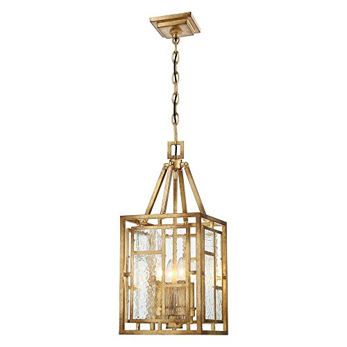 Metropolitan N6473-293 Edgemont Park Pendant, 4-Light 240 Total Watts, Pandora Gold Leaf
