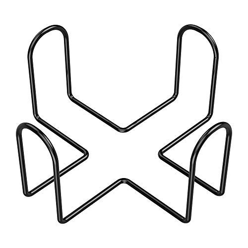 (Kollea Coasters Holder for Round & Square Coasters, 4.5 Inches, Metal Black, Hold up to 6 Pieces)