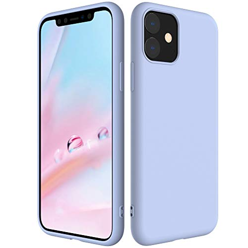 Silicone Phone Case compatiable with iPhone 11 2019, Ultra Thin & Full Body Protective No Dust Attractive Soft Cover 6.1'' Liquid Rubber Cases for Apple with Lining Fiber