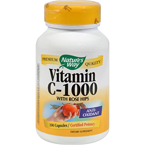 Nature's Way Vitamin C with Rose Hips - 1000 mg - 100 Capsules