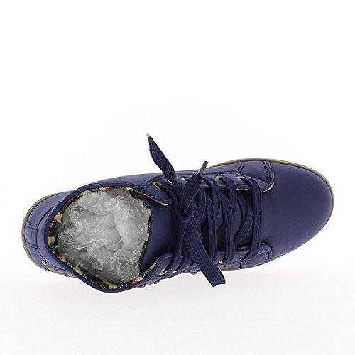azul zapatos mujer Zapatos forrado ciudad de WcCn1Y