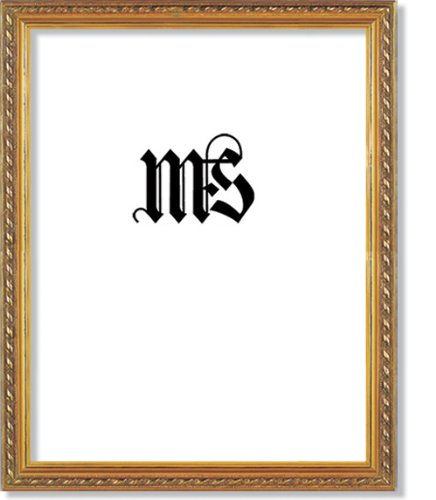 Imperial Frames 8-1/2 by 11-Inch/11 by 8-1/2-Inch Picture/Photo/Certificate Frame, Thin Fancy Rope Shaped Gold Molding