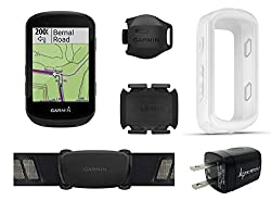 Wearable4U Garmin Edge 530 GPS Cycling Computer with Included Original Garmin Silicone Case Wall Charging Adapter Bundle
