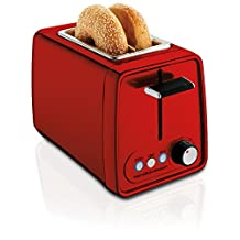 Hamilton-Beach 22793C Modern Chrome 2 Slice Toaster, Metallic Red