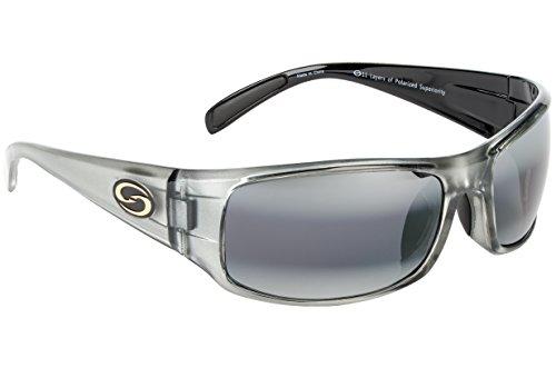 Strike King S11 Optics Full Frame Polarized Sunglasses (Clear Gray Metallic-Back Two Tone - King Strike Sunglasses