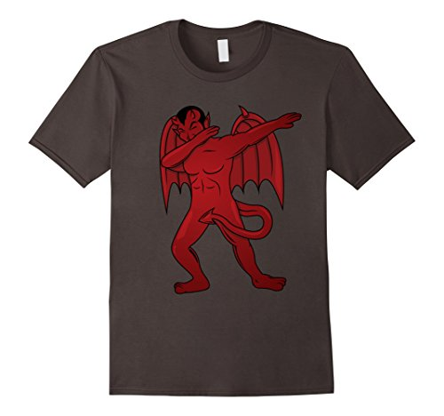 Mens Dabbing Devil T-Shirt - Dab Dance Satan Halloween Costume Small Asphalt