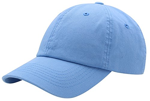 BRAND NEW 2016 Classic Plain Baseball Cap Unisex Cotton Hat For Men & Women Adjustable & Unstructured For Max Comfort Low Profile Polo Style  Unique & Timeless Clothing Accessories By Top Level, Sky Blue, One Size