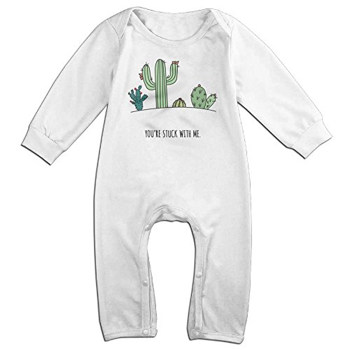 You're Stuck With Me Like Cactus Newborn Baby Winter Jumpsuit Cotton Print Infant Romper Long Sleeve Baby Boy Girl Outfits 6-24 Months