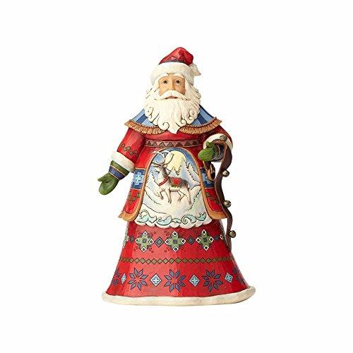 Enesco Jim Shore Heartwood Creek Lapland Santa with Bells