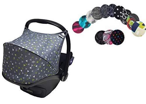 Sweet Baby ** HOODY Wind- und Wetter ** Universal Verdeck/Dach für Maxi Cosi CabrioFix Babyschale Gruppe 0+ als Sonnenverdeck/Regenverdeck/Windschutz/Sonnendach (Design 10)