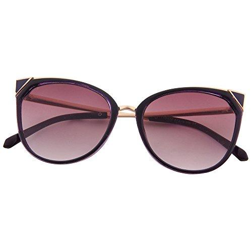 uv400 moderne Black soleil lunettes les mode cateye miroir OGOBVCK de xHqCIwxn