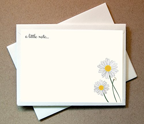 Daisies Note Cards (24 Non-foldover Cards and Envelopes)