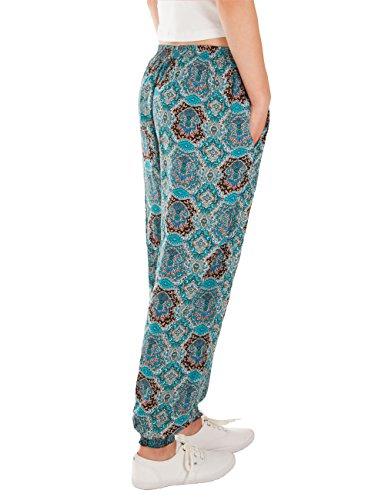 Turchese estivi Pantaloni leggeri donna Fraternel qxO84nx