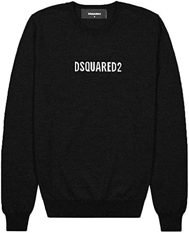 DSQUARED2 męski sweter Nero: Odzież