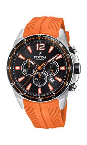 Festina Mens Chronograph Quartz Watch with PU Strap F20376/5