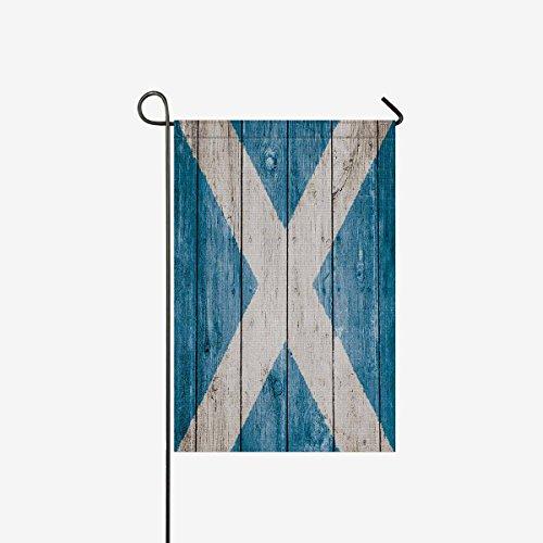 InterestPrint Woode Scottish Flag Garden Flag Home House Ban