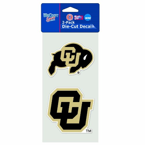 NCAA Colorado Buffaloes 2-Piece Die-Cut Decal, 4