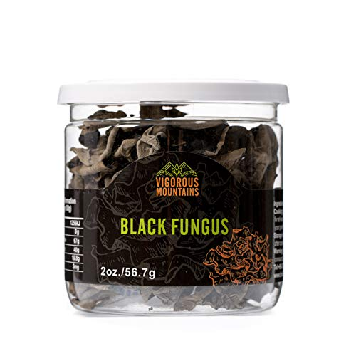 Vigorous Mountains Dried Black Fungus Woodear Mushrooms 2 Ounce