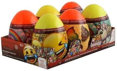 Amazon.com: Emoji MEGA HUEVO 6pz/Mega Egg Surprise Emoji 6pz ...