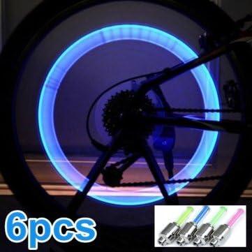 Bheema De alta calidad de 6x para bicicleta ilumina la rueda LED ...